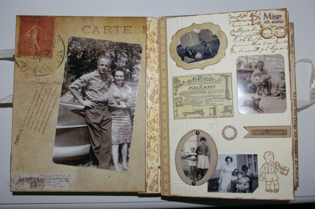 Scrap et vitrines miniatures mini album - Exemple d album photo fait main ...