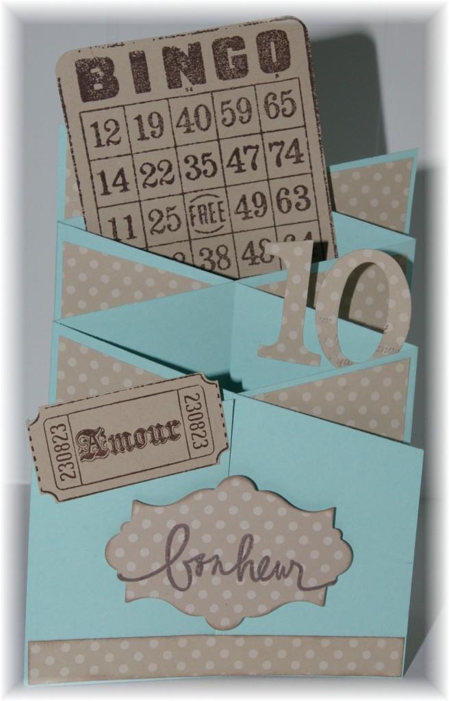Carte anniversaire de mariage carte-cascade-bleu