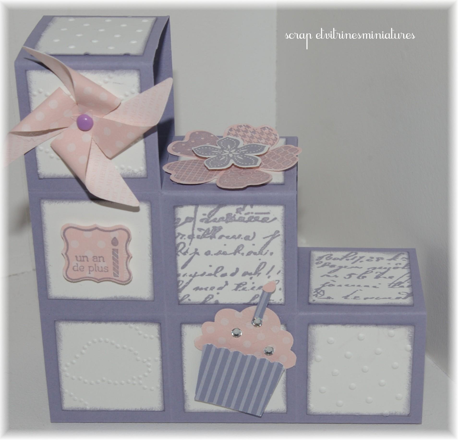 scrap et vitrines miniatures cartes anniversaires. Black Bedroom Furniture Sets. Home Design Ideas